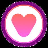 Heart shaped Like button